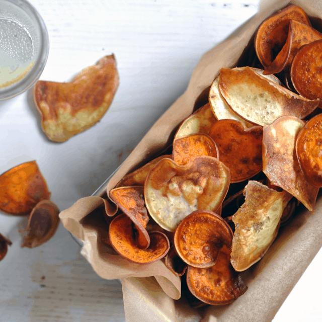 Sweet Potato Chips with Smoked Hickory Sea Salt*