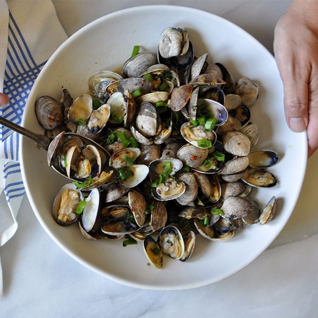 Clams with Lime-Basil Butter
