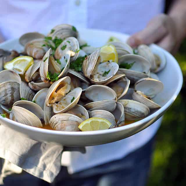 Grilled Clams with Smoked Paprika Butter