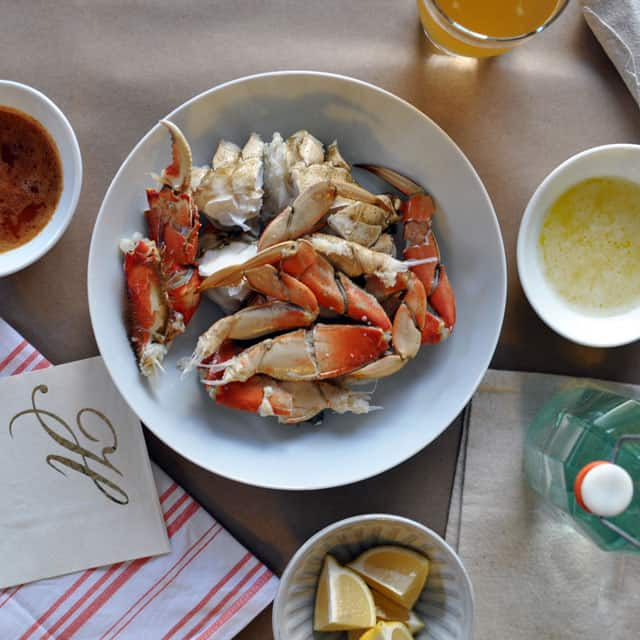 We've prepared the definitive, step-by-step guide to cooking and cleaning crab at home. All you'll need is a pot, some tongs, and a little bit of courage. Plus get the recipe for 2 delicious dipping butters: Lemon-Garlic Butter and Harissa Butter