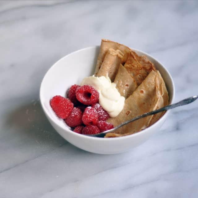 Rye Flour Crepe Bowls