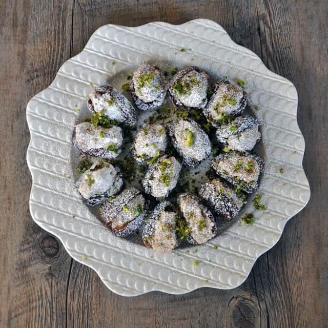 dates plate Dates Stuffed with Rosewater Almond Paste: 10 Things to Look Forward To in 2012