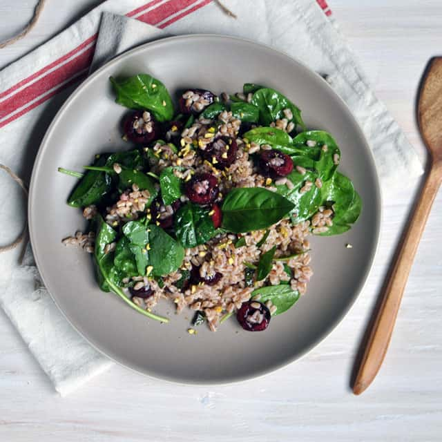 Small Reminders: Farro and Cherry Salad with Champagne ...