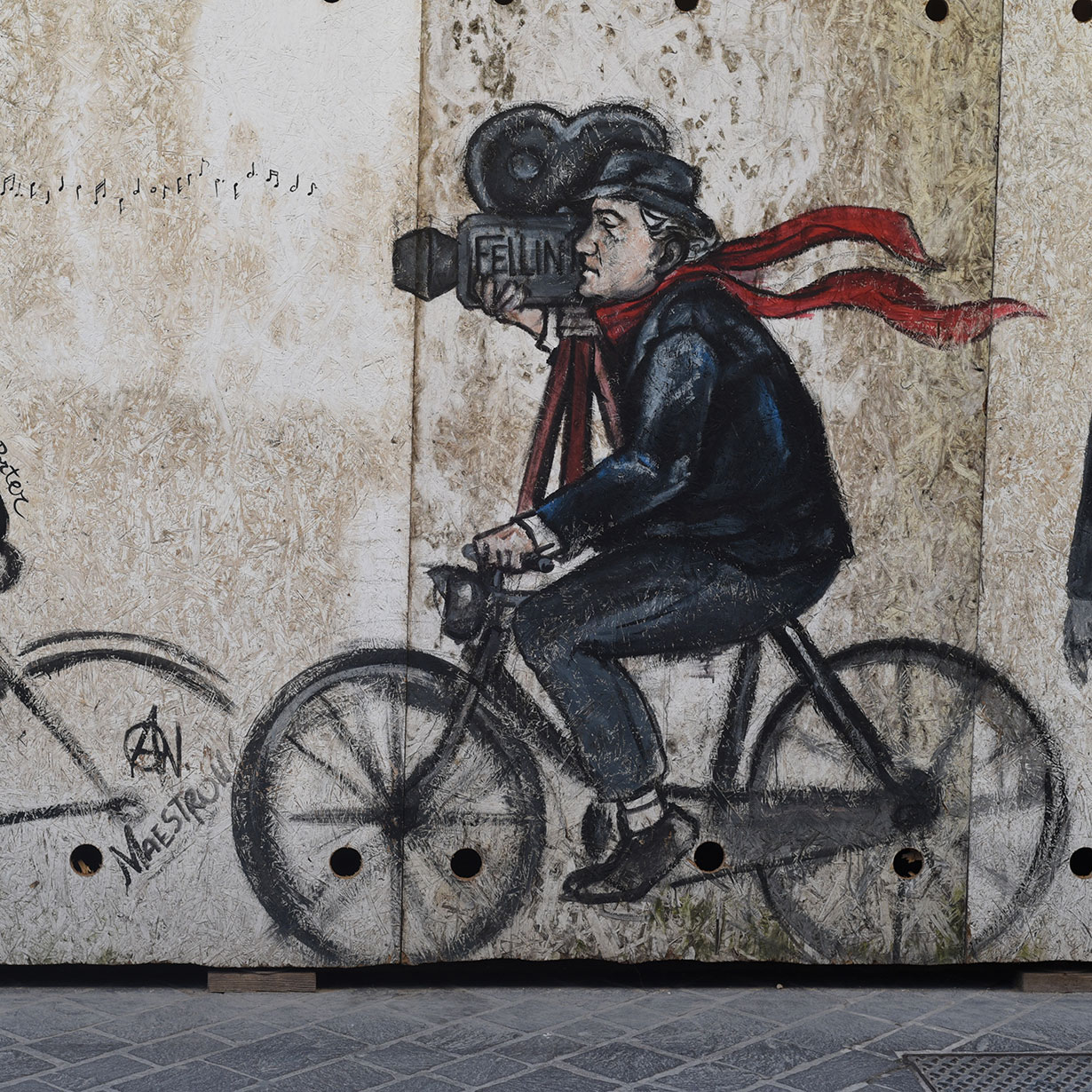 Fellini in Ravenna, Italy