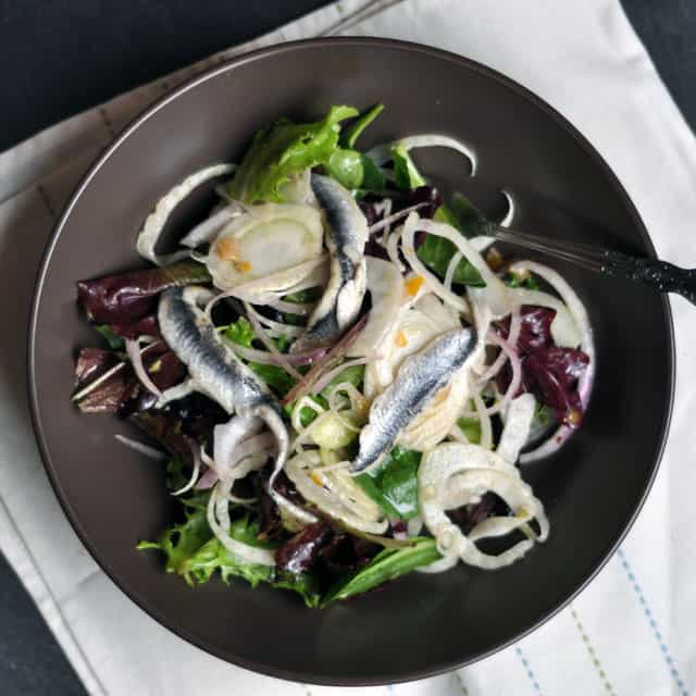 fennel salad Spanish Anchovy, Fennel and Preserved Lemon Salad, Plus Kinfolk Dinner Series