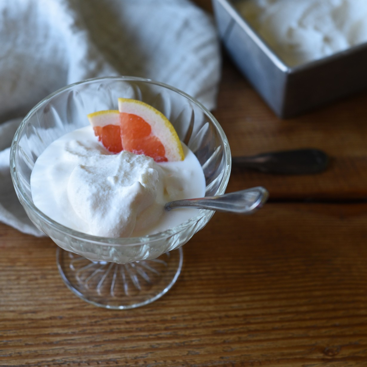 Grapefruit Frozen Yogurt