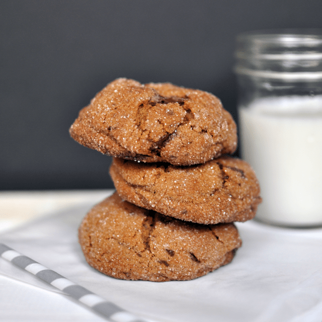 Ginger Molasses Cookies with Chocolate Chunks - Turntable Kitchen