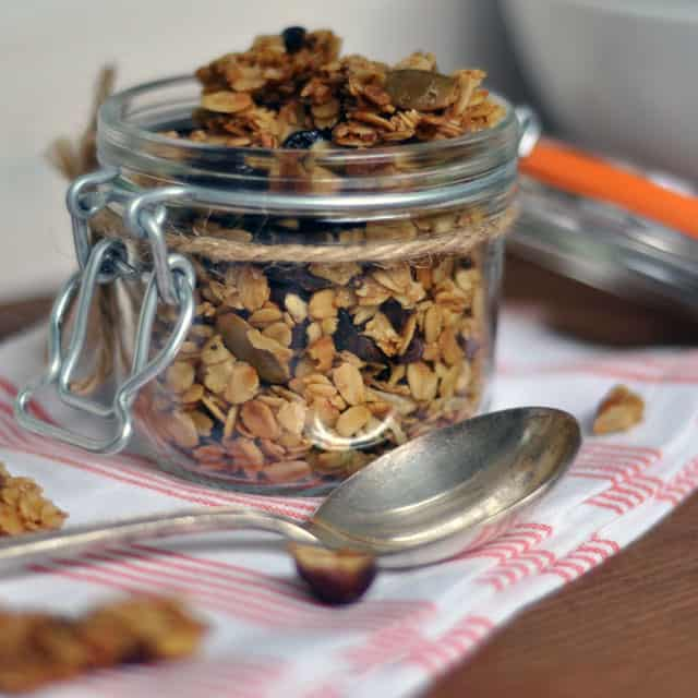 Maple-Olive Oil Granola with Cocoa Nibs, Hazelnuts and Cherries ...
