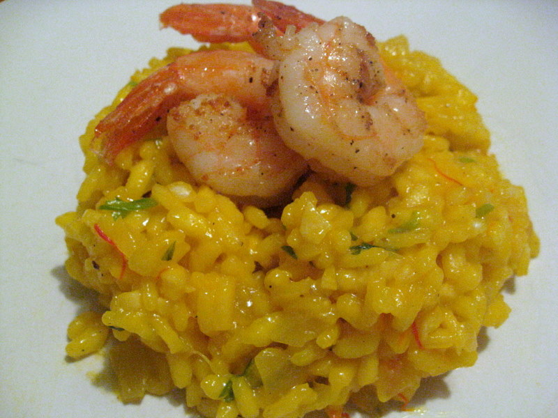 Saffron Risotto with Tarragon and Shrimp: A Friend Comes to Town ...