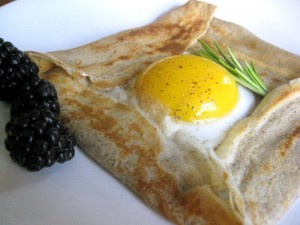 img 3336 300x225 A Different Kind of Crepe: Buckwheat Galette with an Egg