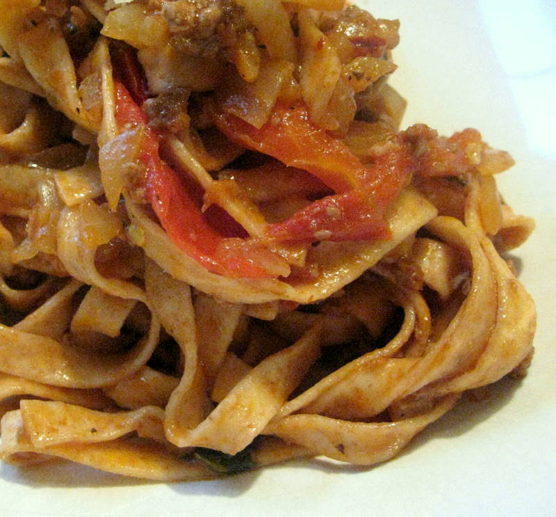 A Quasi Bolognese with Tomatoes
