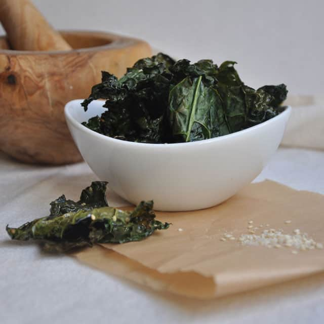 wedges with gomashio japanese sesame salt kale chips baked kale chips ...