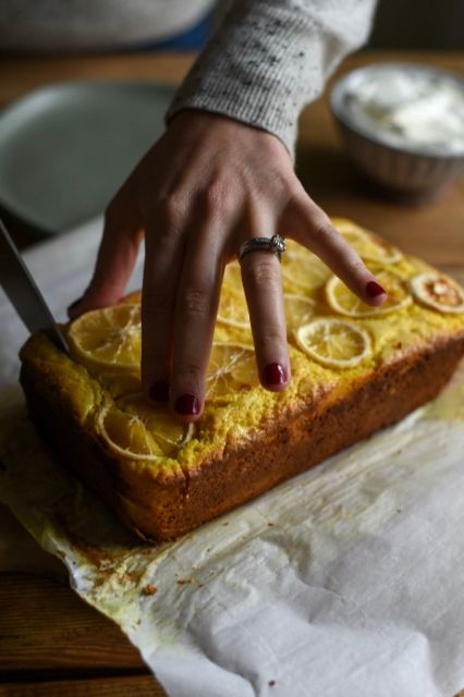 Lemony Turmeric Tea Cake recipe from Alison Roman's Nothing Fancy cookbook