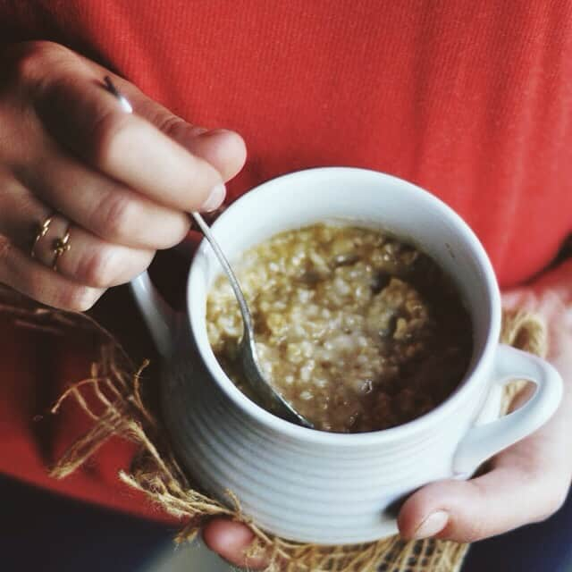 Steel Cut Oats with Peanut Butter, Honey and Cinnamon