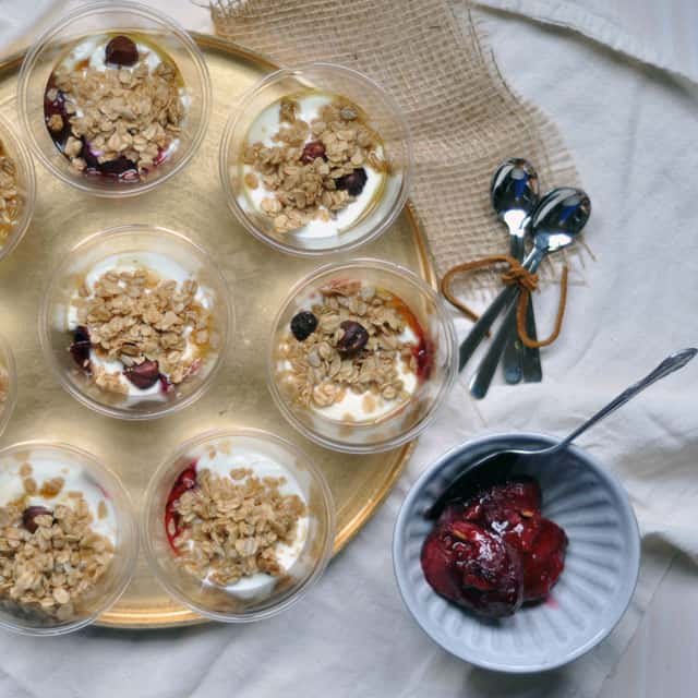 parfaits overhead roastedplums A Different Kind of Project on the Horizon, and Roasted Plum Parfaits to Celebrate