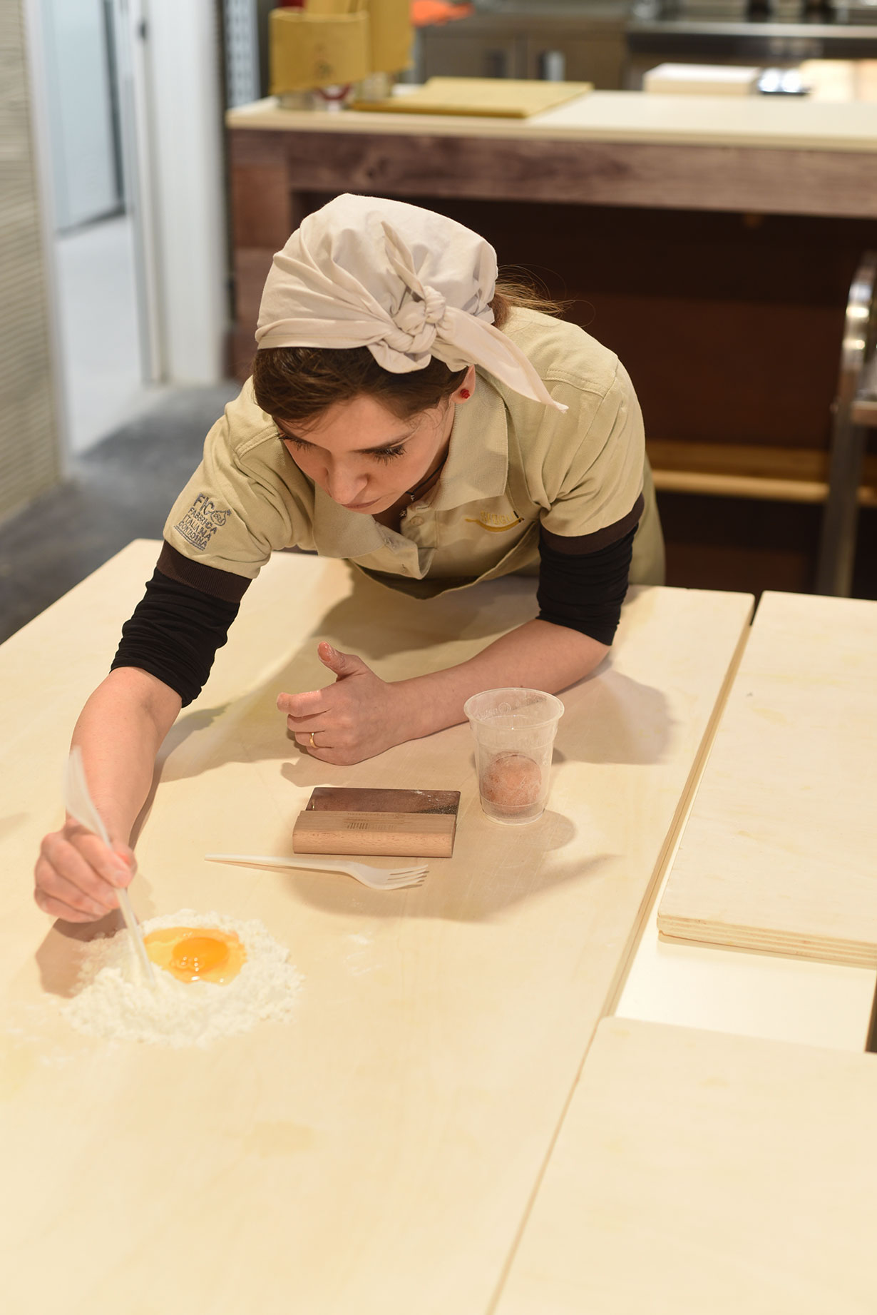 Pasta making at FICO Eataly