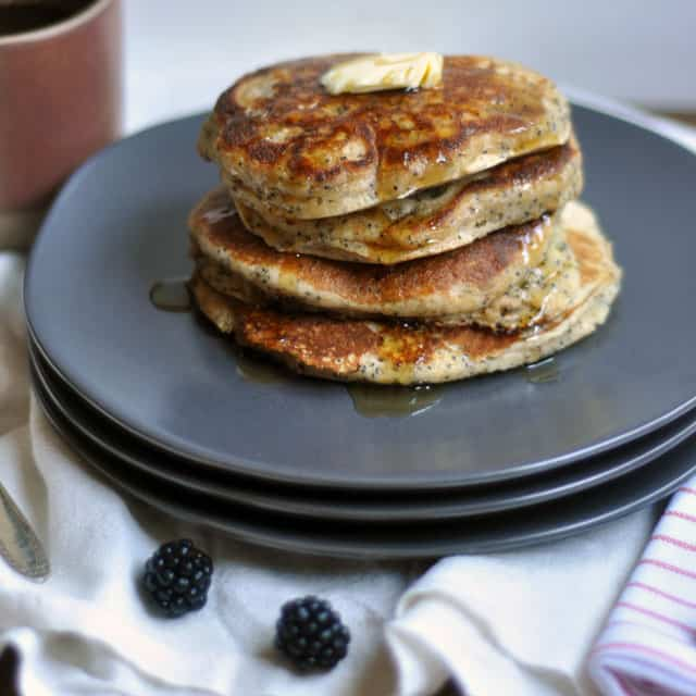 poppyseedpancakes1 Whole Wheat Almond Poppy Seed Pancakes: Make Plans