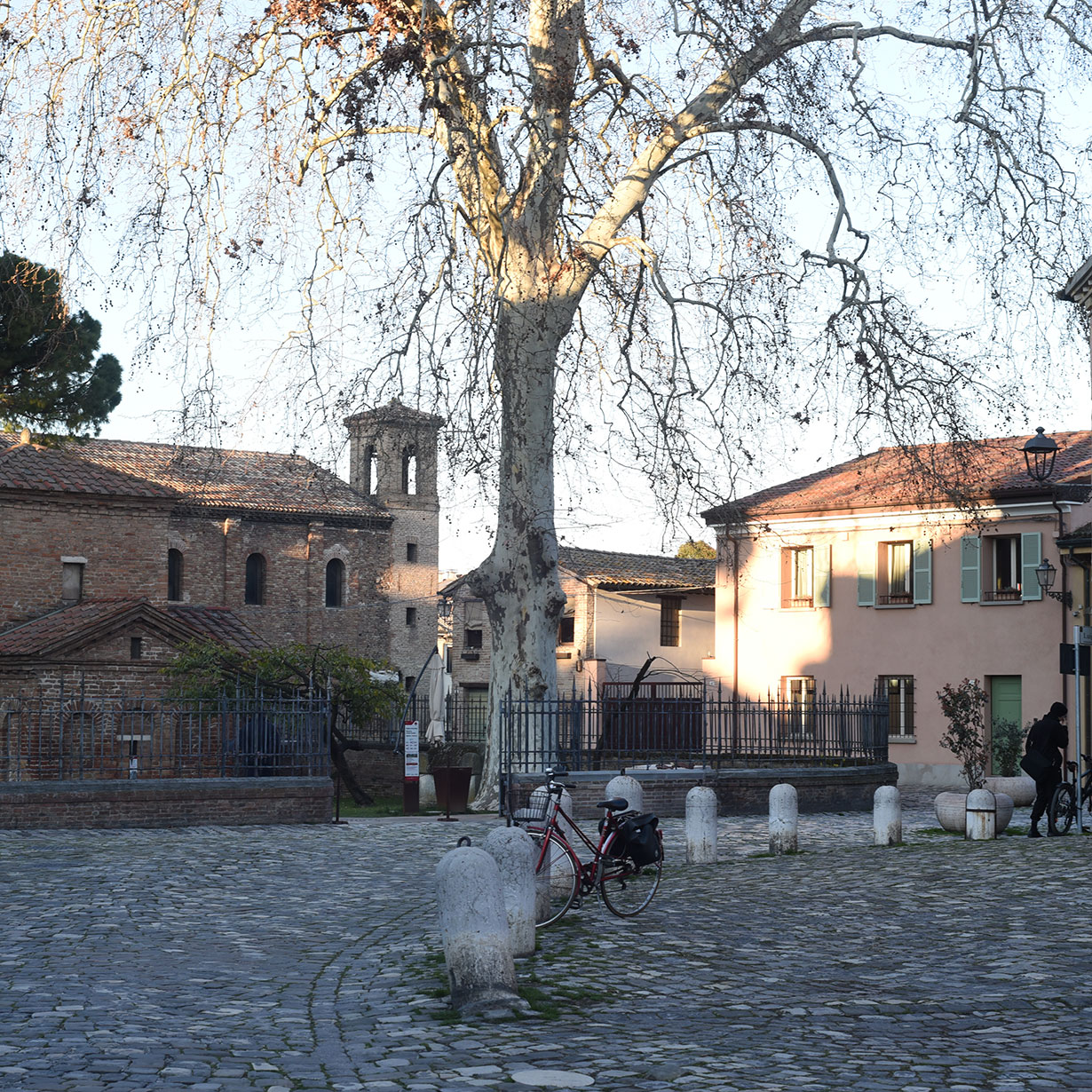Old streets of Ravenna, Italy