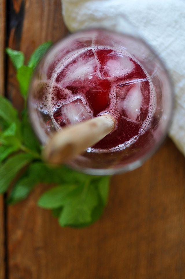 Iced Rhubarb-Hibiscus Tea
