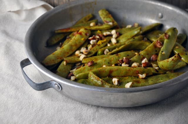 Recipe for Roasted Romano Beans with Hazelnuts and Smoked Paprika