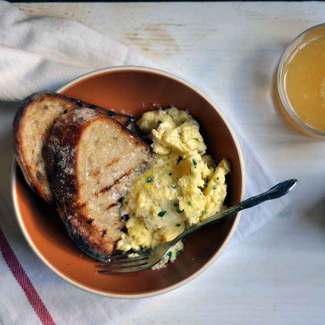 Soft-Scrambled Eggs with Buttery Toast