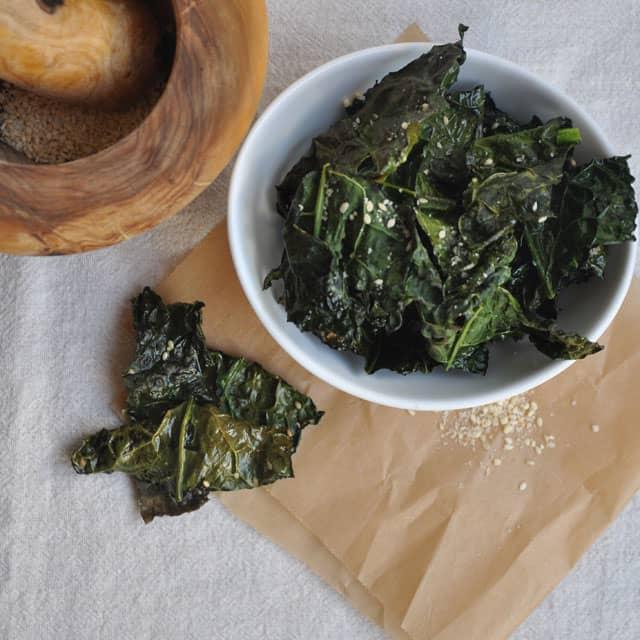 Sesame Salt Kale Chips: Let's Talk Crazy - Turntable Kitchen