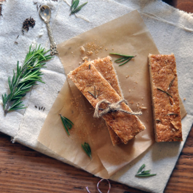 Rosemary and Toasted Caraway Shortbread