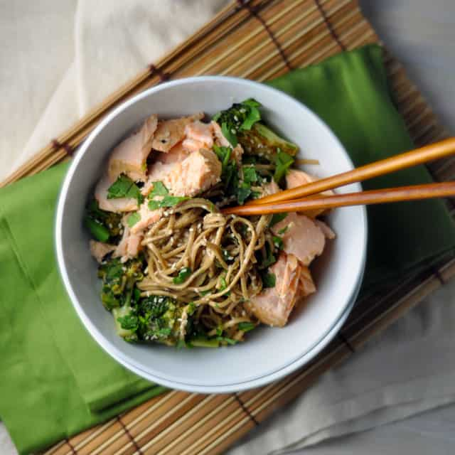 Soba Bowls with Tea-Poached Salmon: It's a Winner ...