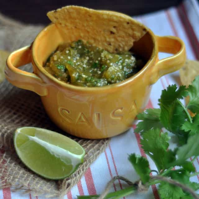 Roasted Tomatillo Salsa: Settled in the Middle - Turntable Kitchen