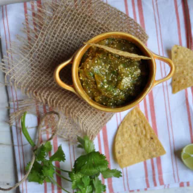 tomatillo salsa top Roasted Tomatillo Salsa: Settled in the Middle