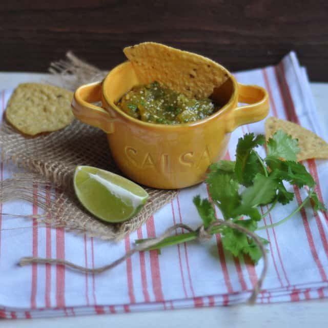 tomatillo salsa wide Roasted Tomatillo Salsa: Settled in the Middle