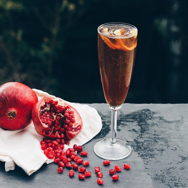 Home Bar: Pomegranate French 75