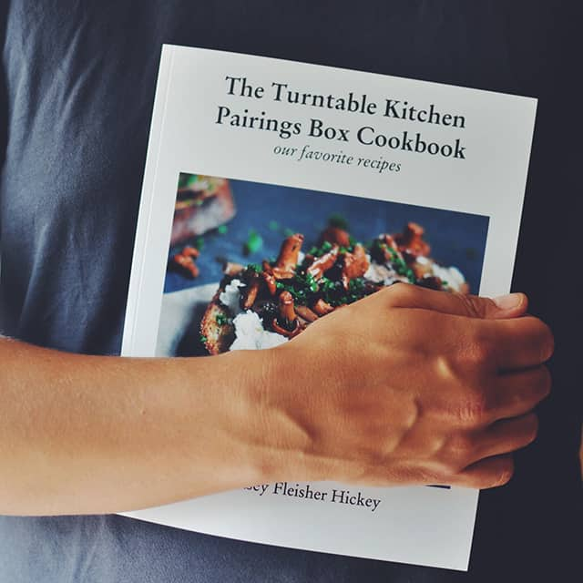 making a cookbook with blurb turntable kitchen