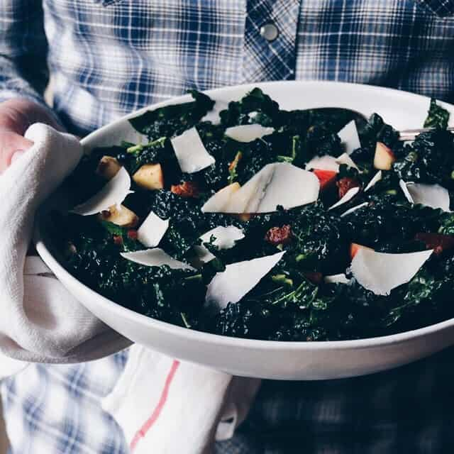 Kale Salad with Apples, Dates, and Warm Pancetta Vinaigrette ...