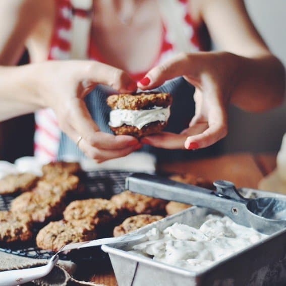 Muscovado Chocolate Chip Cookie Ice Cream Sandwiches