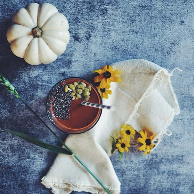 Pumpkin-Peanut Butter and Chocolate Smoothie