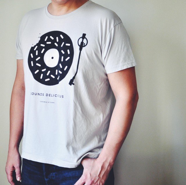 'Sounds Delicious' Vintage Tee: B&W
