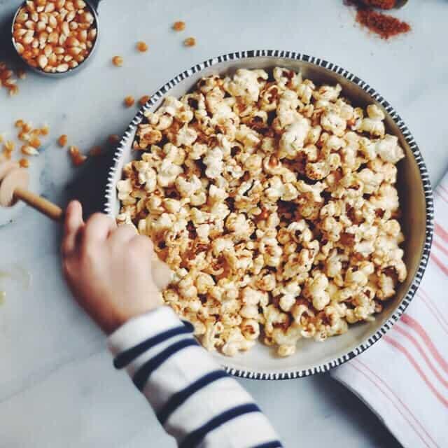 Spicy-Sweet Shichimi Togarashi Popcorn