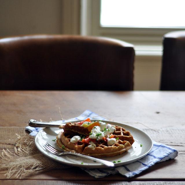 Savory Rye Waffles