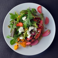 watermelon salad 250x250 Musical Pairings: Evenings   Lately